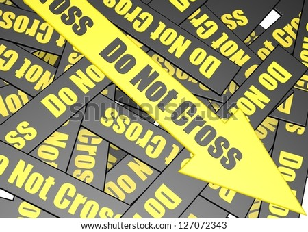 Do not cross banner - stock photo