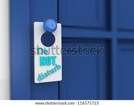 Do Not Disturb Sign. 3d - stock photo