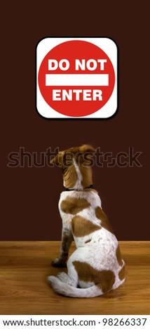 Do Not Enter. - stock photo