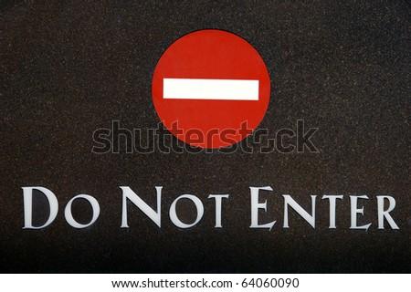 Do not enter sign - stock photo