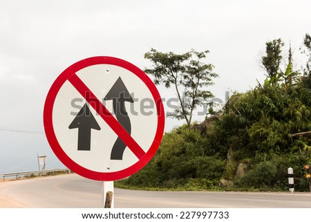 Do not overtake - stock photo