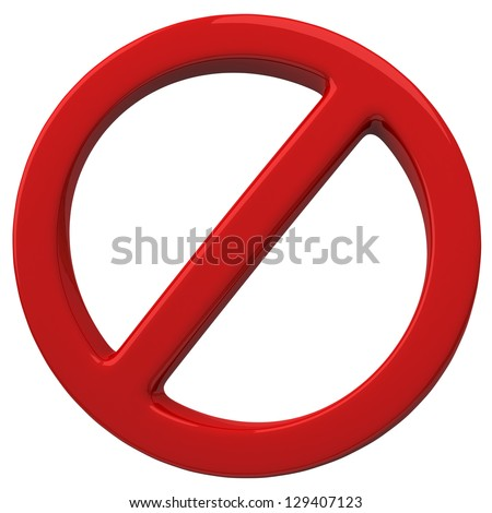 Do Not red 3d warning sign - stock photo