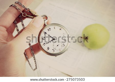 Do not waste your time, Time management or Time is money, Clock face - stock photo