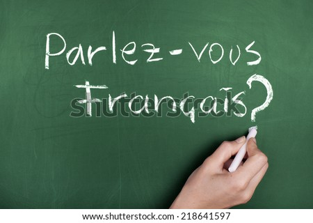 Do You Speak French in french - stock photo