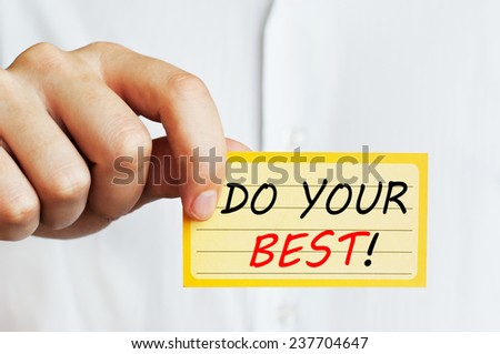 Do Your Best ! - stock photo