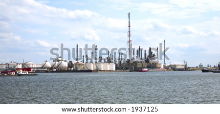 docks of Antwerp (Belgium/Europe) - stock photo