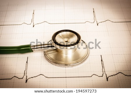 Doctor and stethoscope - stock photo