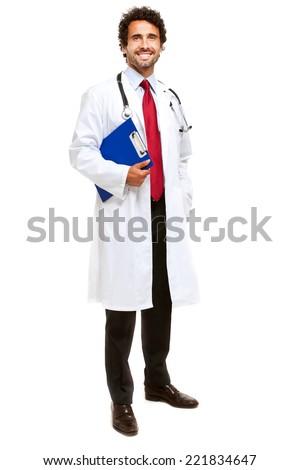 Doctor full length portrait  - stock photo