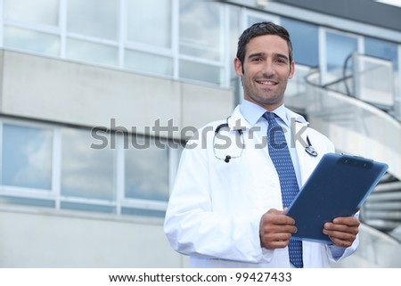 Doctor in hospital - stock photo
