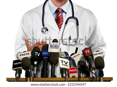 Doctor Press and Media Conference - stock photo