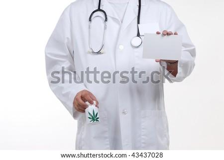 doctor wearing stethoscope isolated on white - stock photo