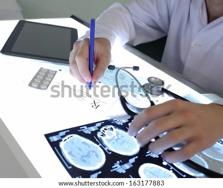 Doctor works - stock photo