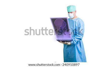 doctor xray radilogist - stock photo