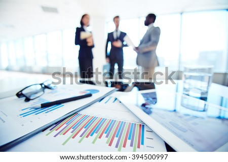 Document and touchpad - stock photo