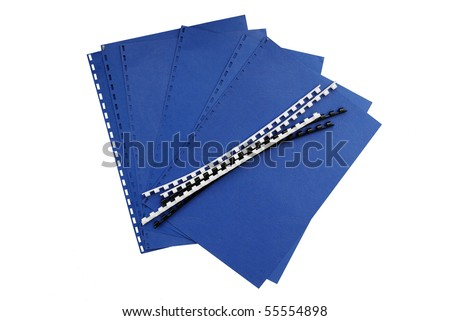 Document binding components - stock photo