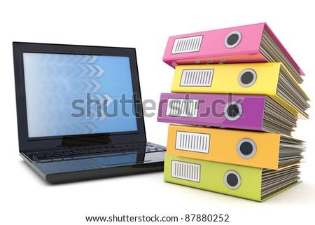 Document management - stock photo