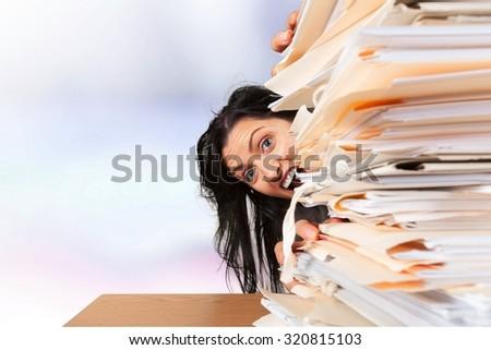 Documents. - stock photo