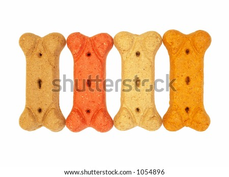 dog biscuits - stock photo