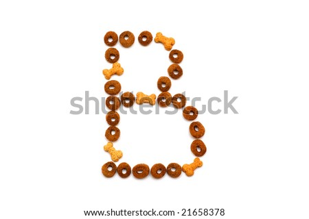 Dog food alphabet - B - stock photo