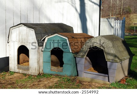 Dog Houses in Eastern Kentucky - stock photo