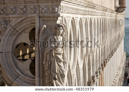 Doge's Palace, Venice (Italy) - Detail of decoration - stock photo