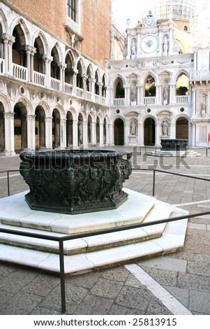Doges palace inside, Venice - stock photo