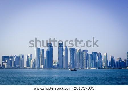 doha modern city - stock photo