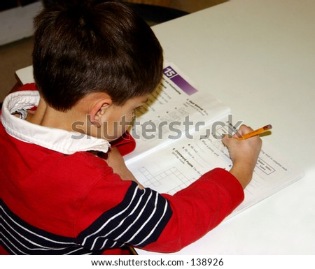 Doing Homework - stock photo