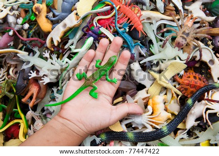 Doll various animal shapes. - stock photo