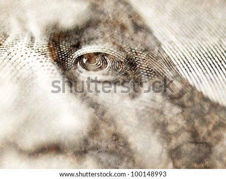 Dollar closeup. - stock photo