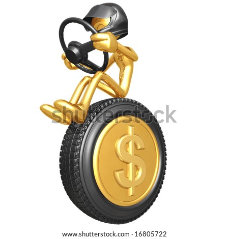 Dollar Coin Currency Racer - stock photo