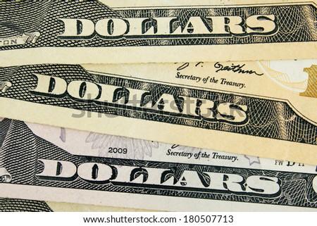 dollar detail - stock photo