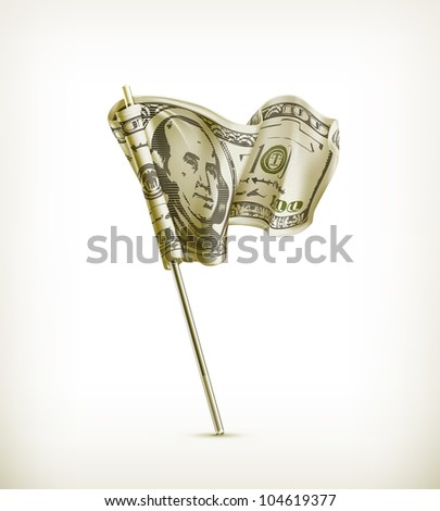 Dollar flag, bitmap copy - stock photo