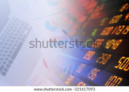 dollar graph stock background, world finance system, Finance concept. - stock photo