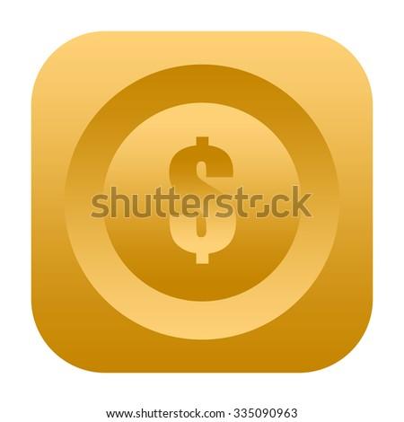 Dollar icon - stock photo