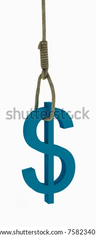 Dollar killed himself. - stock photo