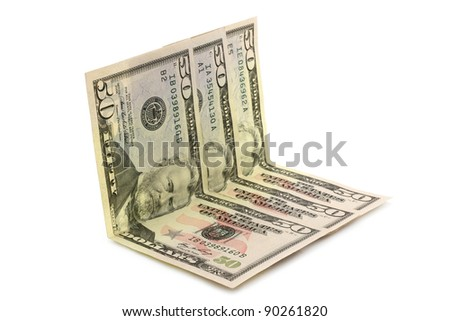 Dollar money on white background - stock photo