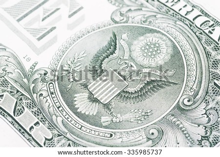 Dollar note up close Macro - stock photo