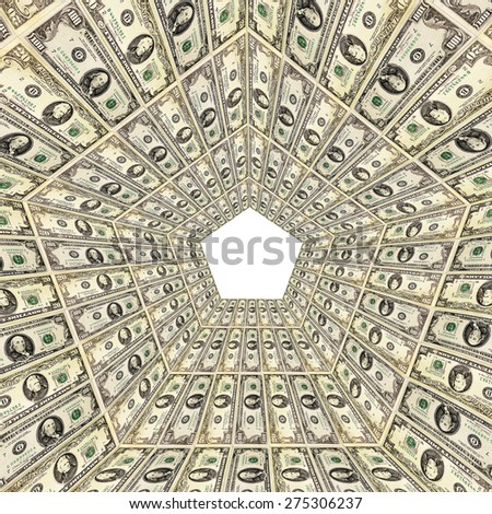 dollar pattern with abstract background from 20 and 100 bank notes - stock photo