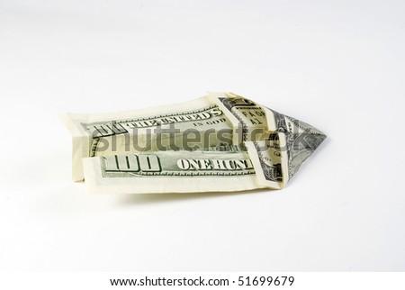 dollar plane - stock photo