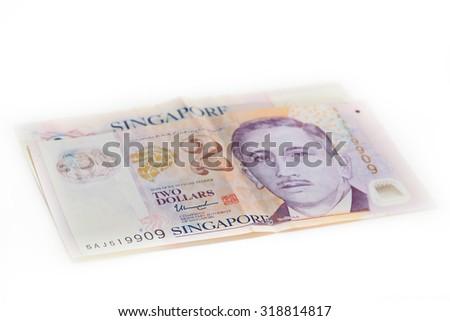 Dollar singapore on white background - stock photo