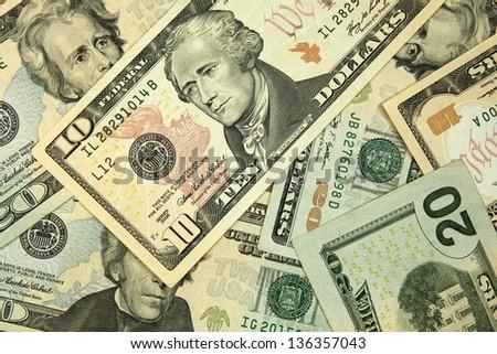dollars background - stock photo