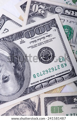dollars background, american money background - stock photo