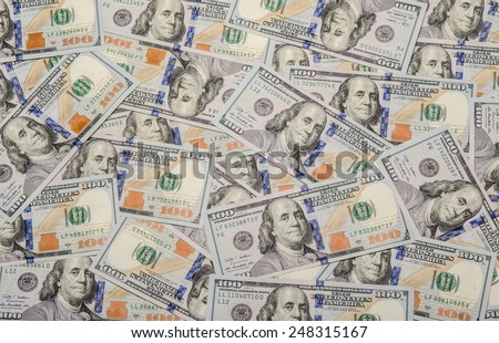 Dollars background. High resolution texture, pattern of banknotes, money usa / photography of the United States dollar (U.S. dollar, American dollar, US Dollar) - stock photo