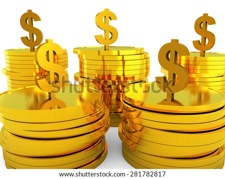 Dollars Cash Representing Revenue Investment And Currency - stock photo