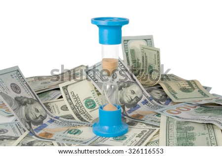 dollars close-up. Isolated on a white background - stock photo