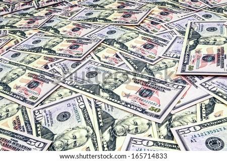 Dollars seamless background. High resolution seamless texture - stock photo