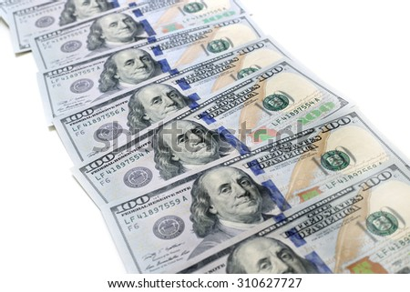 Dollars USA isolated on white background - stock photo