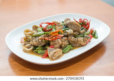 Dolly Pad Kee Mao / Thai foods - stock photo