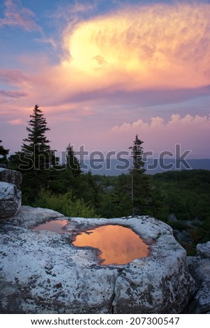 Dolly Sods Sunset - stock photo